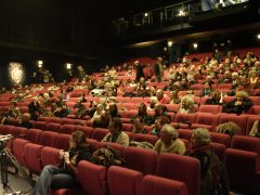 inauguration des 25 ans des rencontres cinema au theatre jean le bleu